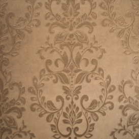 Serafina Damask Heavyweight Vinyl Wallpaper Bronze