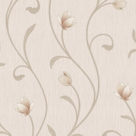 Serafina Floral Wallpaper Soft Gold