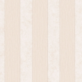 Serafina Stripe Heavyweight Vinyl Wallpaper Bone