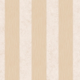 Serafina Striped Heavyweight Vinyl Wallpaper Gold Cream
