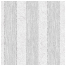 Serafina Striped Heavyweight Vinyl Wallpaper Silver