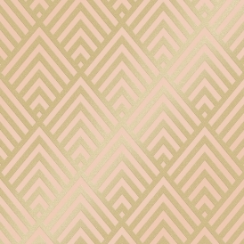 Shard Glitter Geometric Wallpaper Blush Gold