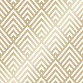 Shard Glitter Geometric Wallpaper White Gold