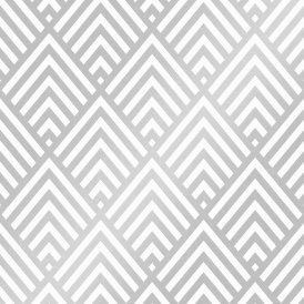 Shard Glitter Geometric Wallpaper White Silver
