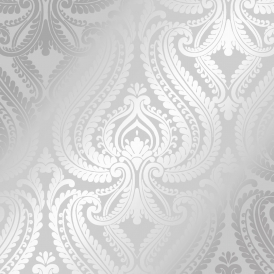 Shimmer Damask Wallpaper Soft Grey Silver
