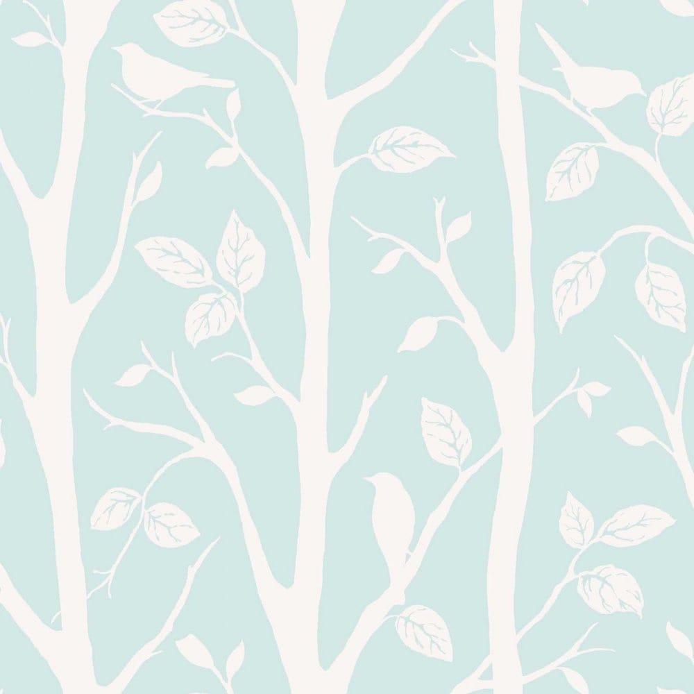 I Love Wallpaper Shimmer Harmony Wallpaper Teal Silver