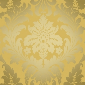 Shimmer Metallic Grande Damask Wallpaper Mustard / Gold (ILW261553)
