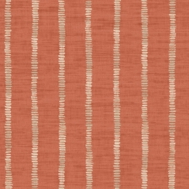 Silk Road Stripe Wallpaper Terracotta