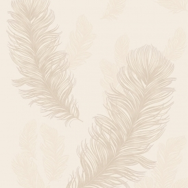Sirius Feather Wallpaper Pearl