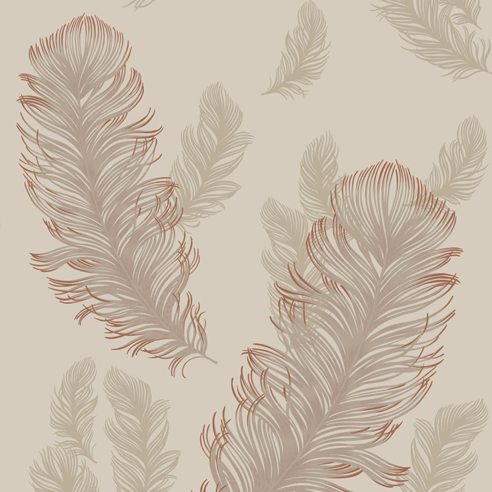 Sirius Feather Wallpaper Rose Gold Wallpaper From I Love