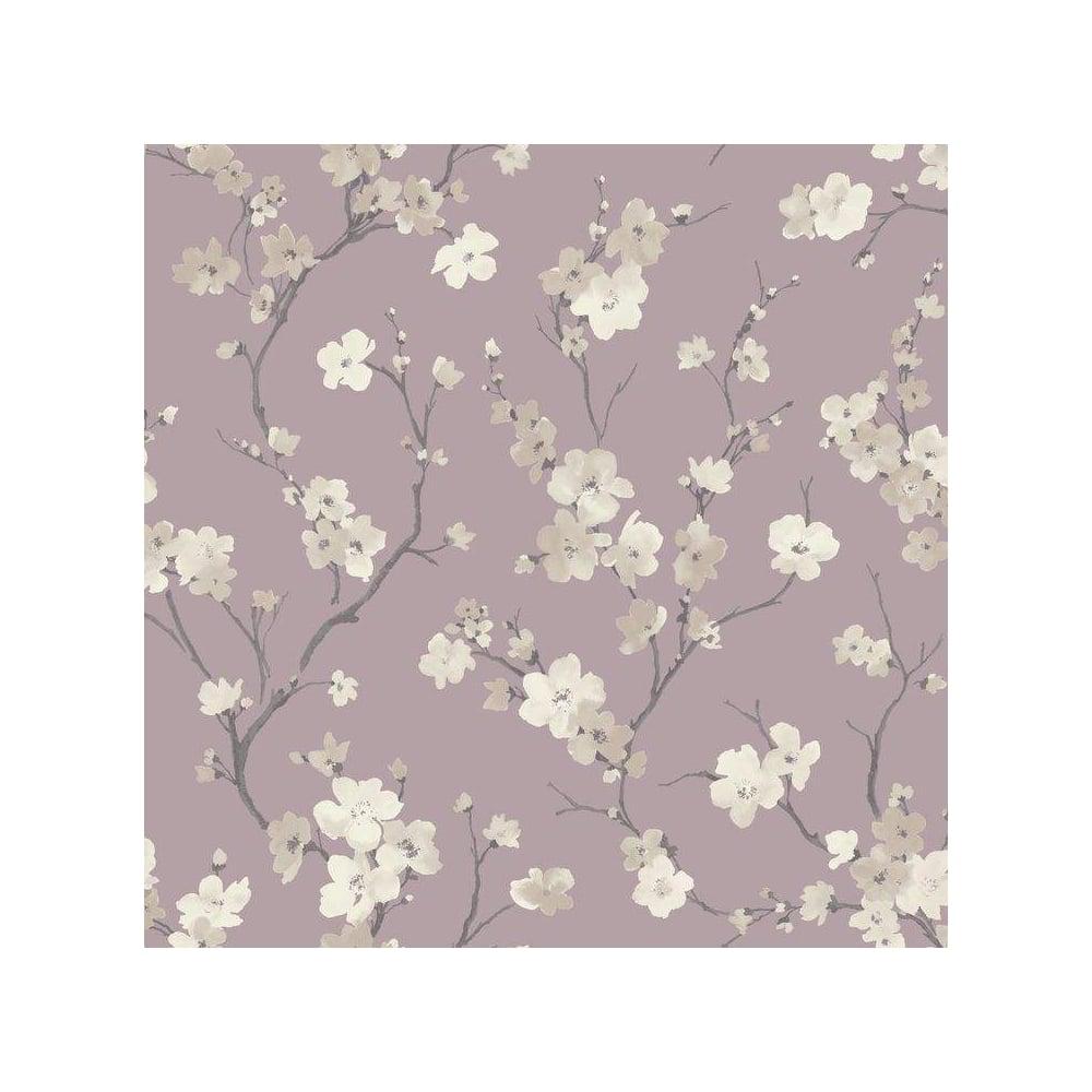 Blossom Wisteria Floral Wallpaper Purple 664102