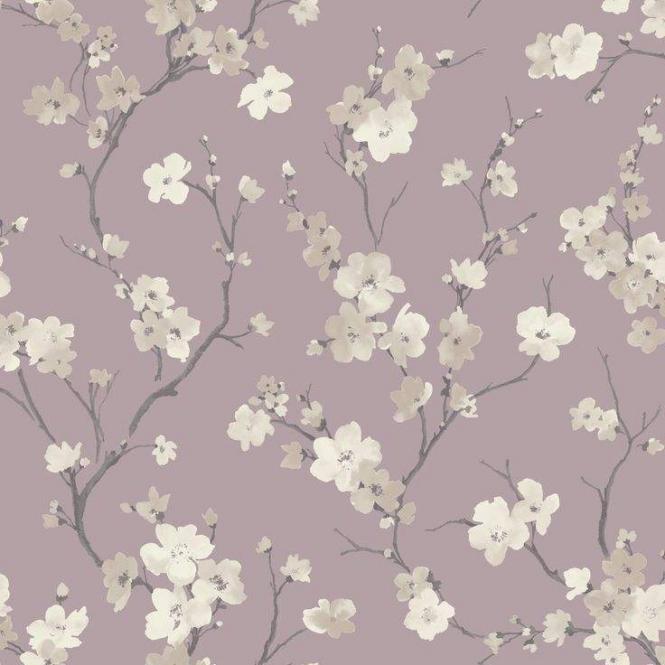 Sophie Conran Blossom Wisteria Floral Wallpaper Purple