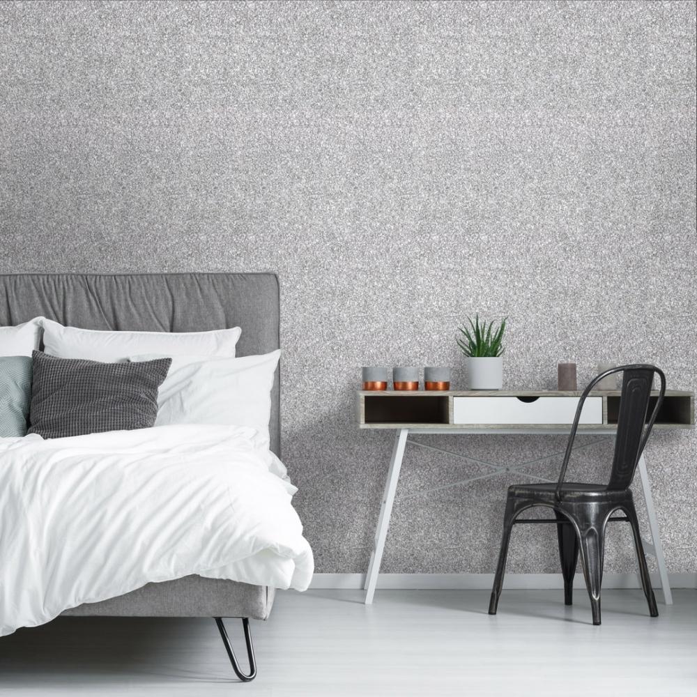 black glitter wallpaper bedroom ideas