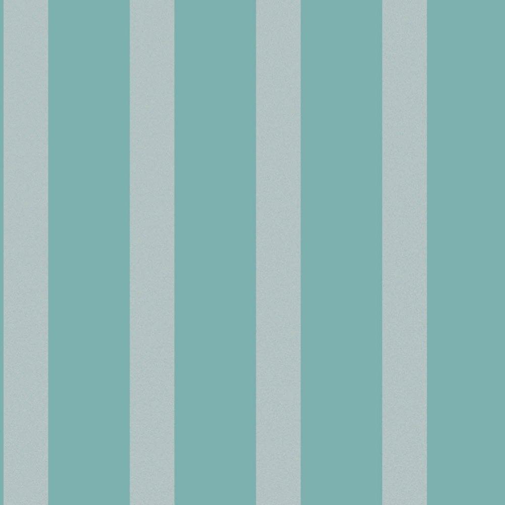 Decorline Sparkle Striped Wallpaper Teal Silver Dl40207