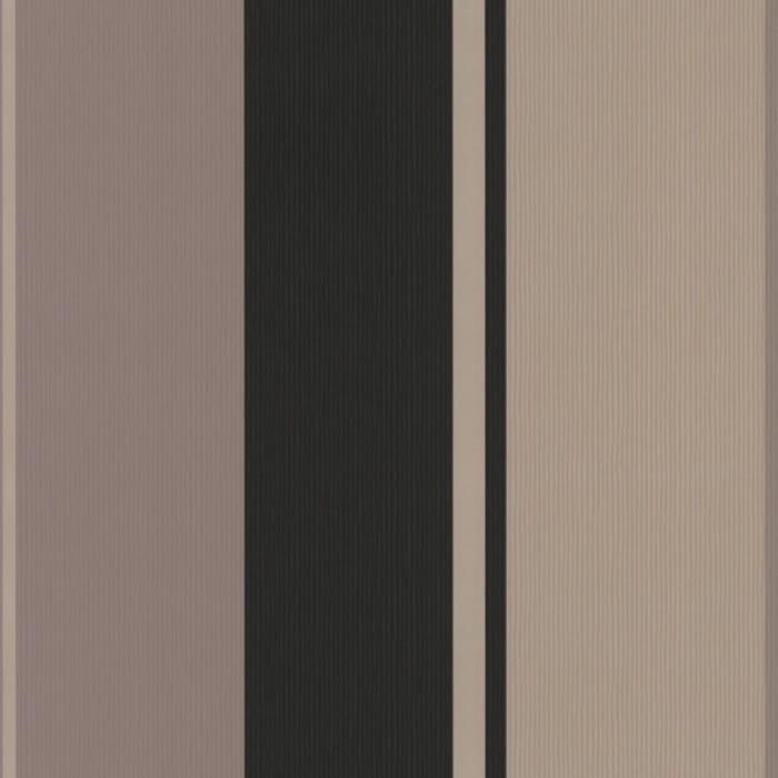 Buy Graham And Brown Spice Stripe Wallpaper Black / Gold