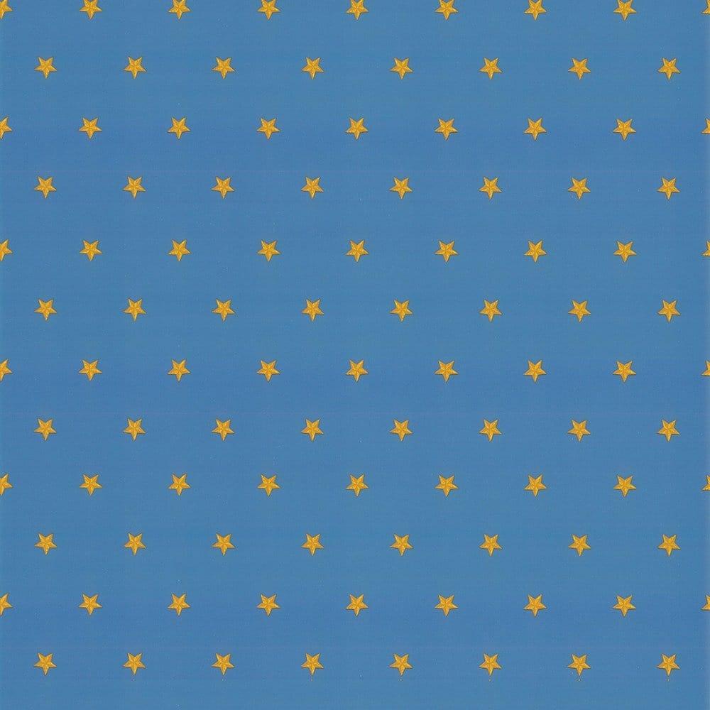 Coloroll Stars Wallpaper Blue Yellow 510963
