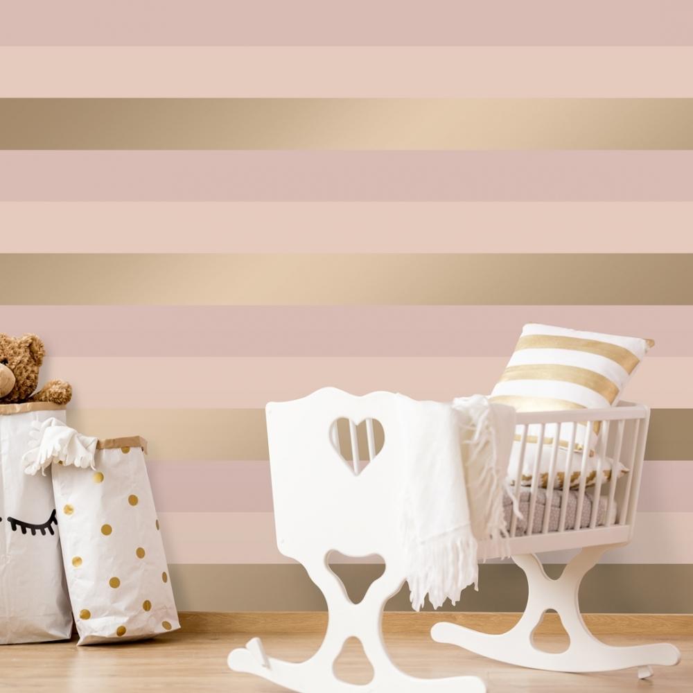 Stripey Stripe Wallpaper Pink Gold Wallpaper From I Love Wallpaper Uk