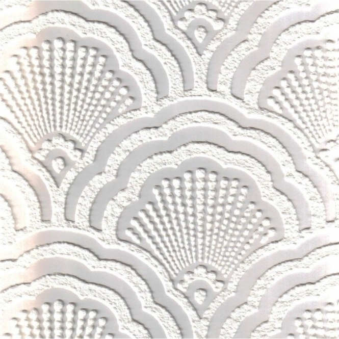 Fine Decor Supatex Shell Pure White Textured Paintable Wallpaper (FD30908)