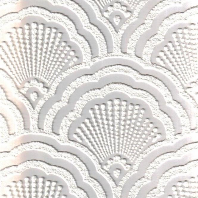 Fine Decor Supatex Shell Pure White Textured Paintable