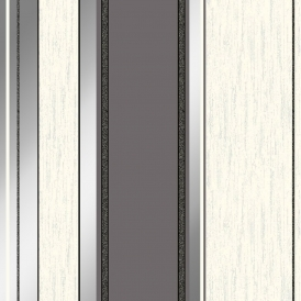 Synergy Striped Wallpaper Charcoal Silver White