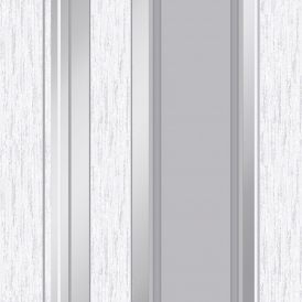 Synergy Striped Wallpaper Dove Grey Silver White