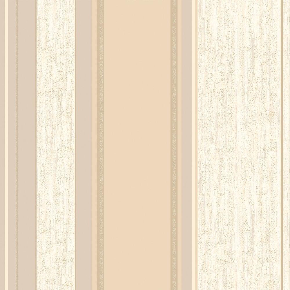 Vymura synergy striped wallpaper soft gold cream beige for Striped vinyl wallpaper