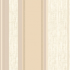 Synergy Striped Wallpaper Soft Gold / Cream / Beige (M0869)