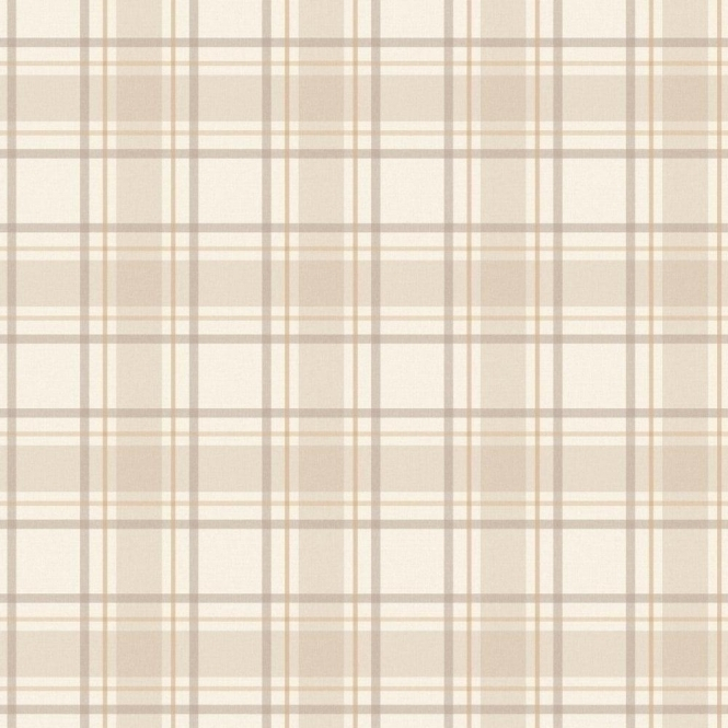 I Love Wallpaper Tartan Wallpaper Neutral, Beige, Cream (ILW980024)