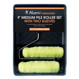 "Taskmasters Medium Pile Roller Set with two sleeves 9"" x 1.5"" (4210)"