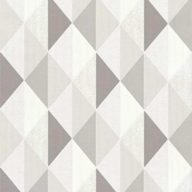 Tate Geometric Triangle Wallpaper Grey, Silver (ILW2502)