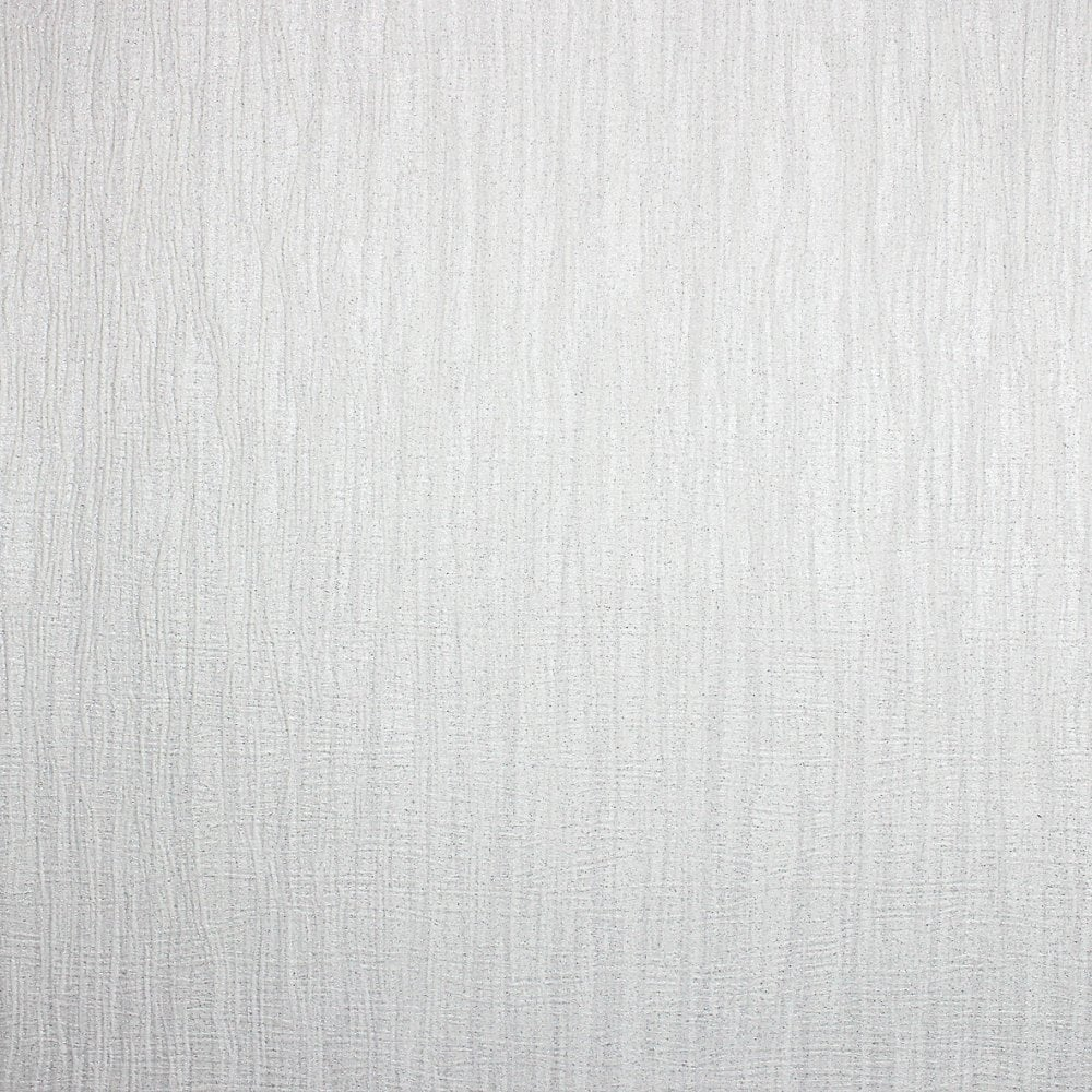 Milano Texture Plain Glitter Wallpaper White (M95563