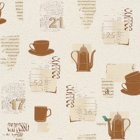 Tiles & More Tiled Wallpaper Cream, Copper (885606)