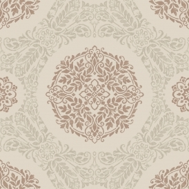 Timour Medallion Motif Wallpaper Copper