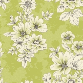 Tivoli Flower Floral Wallpaper Green (209518)