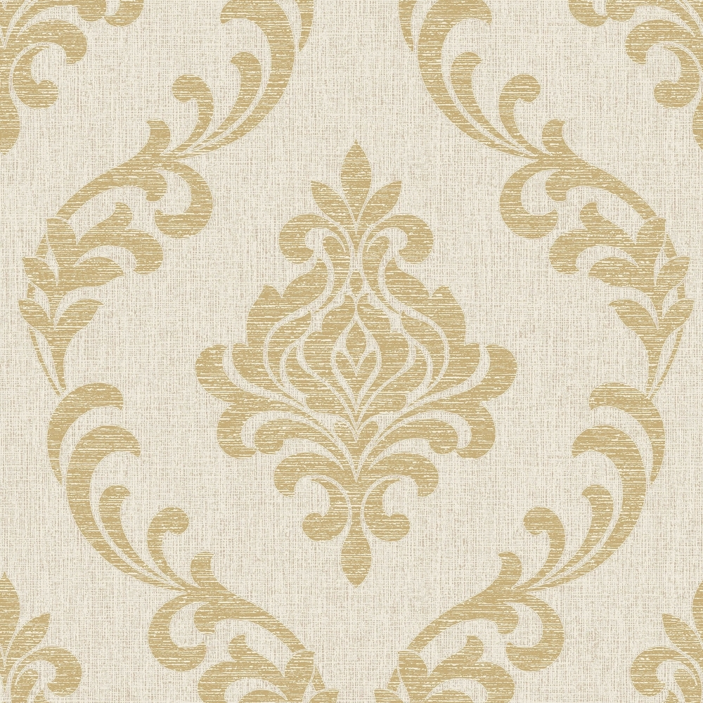 Fine Decor Torino Damask Wallpaper Beige Gold Fd40079