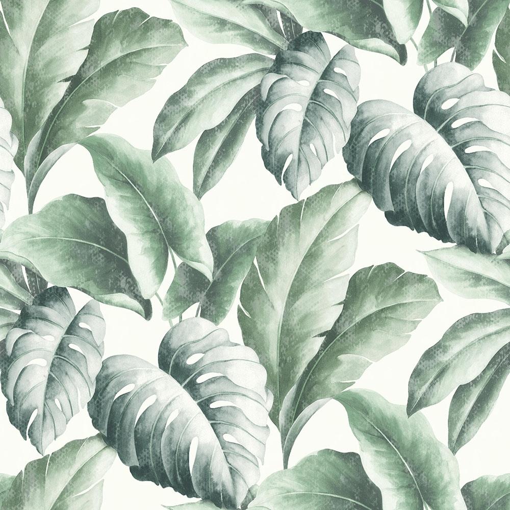 I Love Wallpaper Tropicana Floral Leaf Wallpaper Ivory