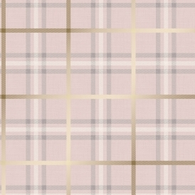 Tweed Tartan Wallpaper Pink