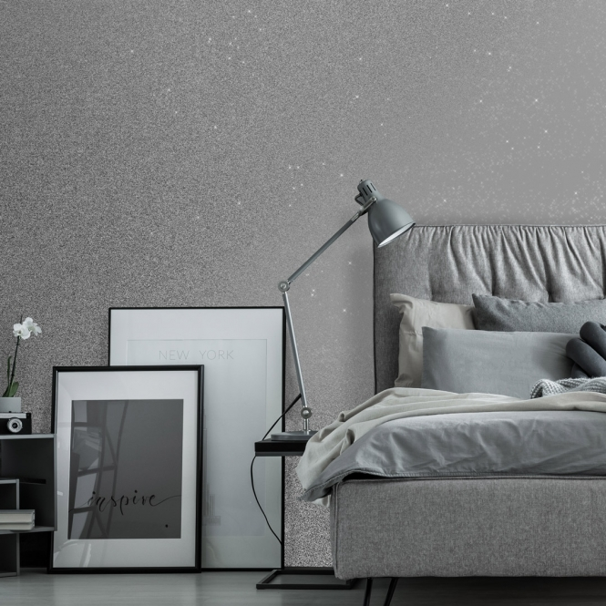 Ultimate Holographic Glitter Effect Silver Wallpaper From I Love