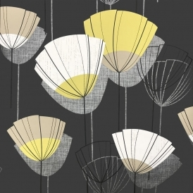 Una Fresco Shell Wallpaper Black