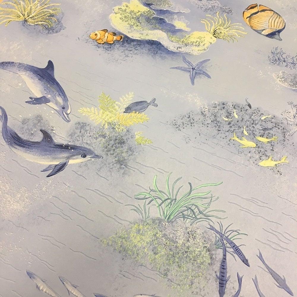 Rasch Under The Sea Bathroom Wallpaper Blue 875706