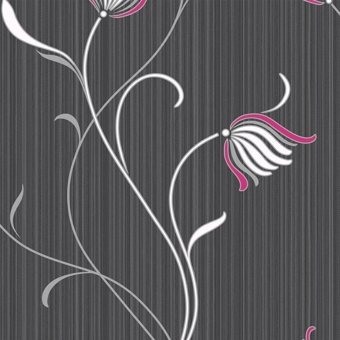 Muriva Vallora Trail Wallpaper Black (106102)