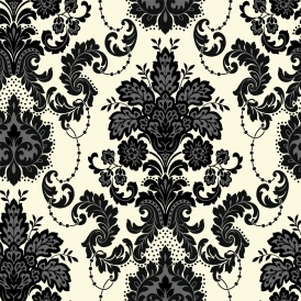 Vasari Damask Wallpaper Dalmation