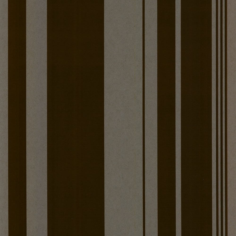 Casadeco Velvet Suede Effect Flock Stripe Chocolate