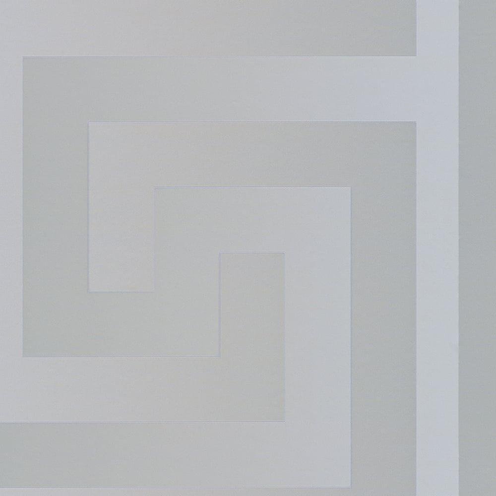 Versace Large Greek Key Wallpaper Silver 93523 5