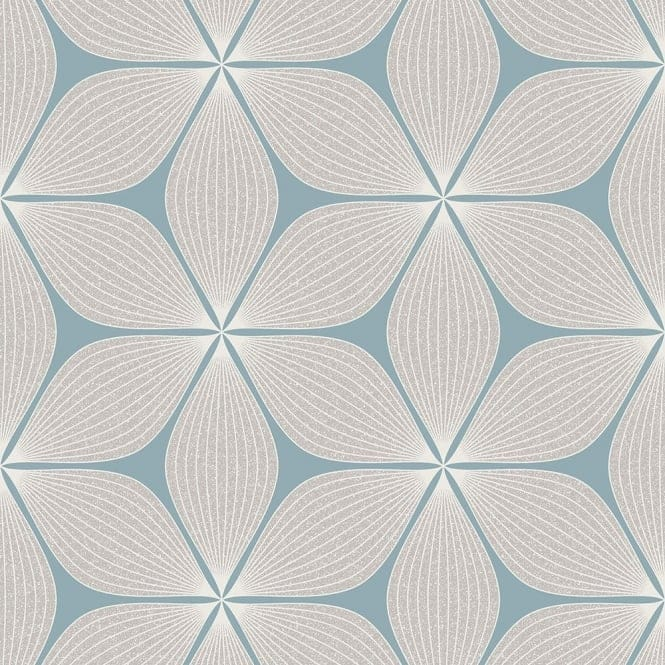 Coloroll Vibration Wallpaper Teal Silver M1023