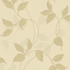 Vintage Capriata Leaf Wallpaper Gold