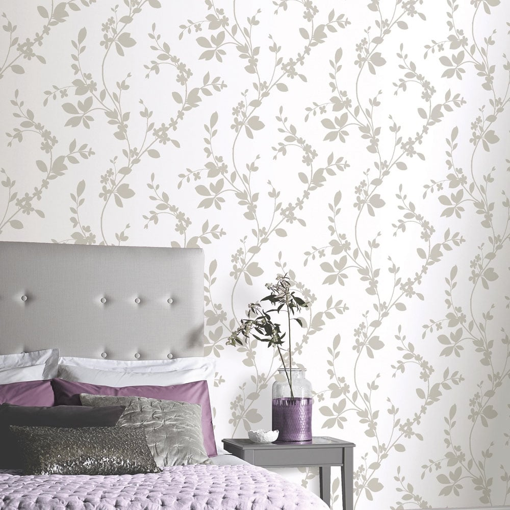arthouse vintage lavinia wallpaper mocha 891701. Black Bedroom Furniture Sets. Home Design Ideas