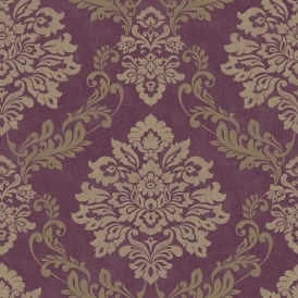 Vintage Palazzo Damask Wallpaper Mulberry (290401)