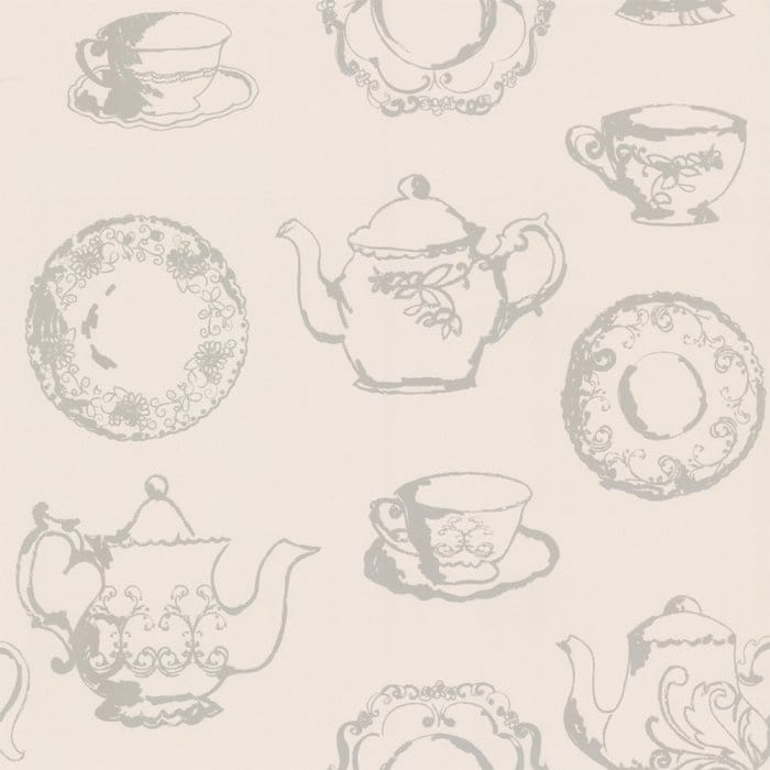 Designer Selection Vintage Teacups Shabby Chic Wallpaper
