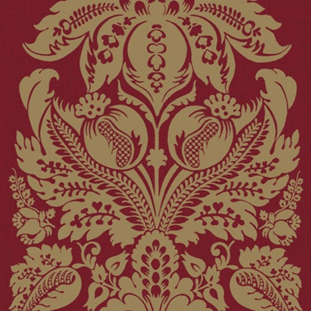 Arthouse Vintage Teramo Damask Wallpaper Regal Red 952104